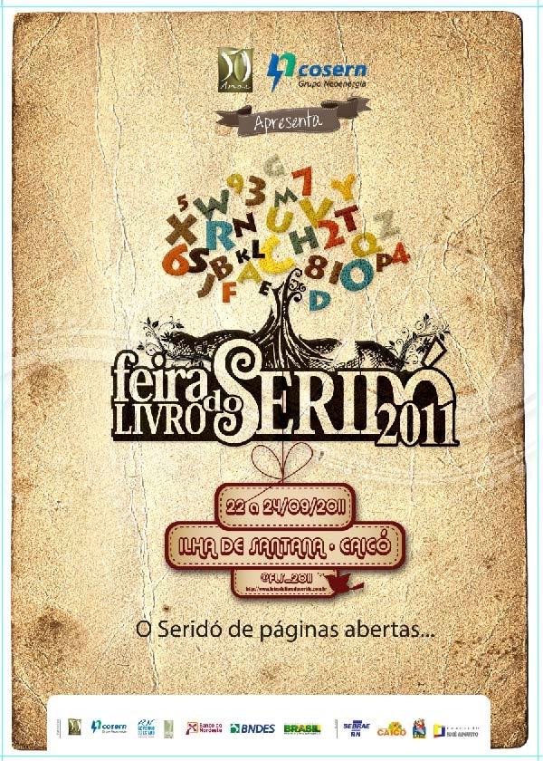 Cartaz Feira Do Livro Do Serido 2012 Feiras Do Livro Feira Do
