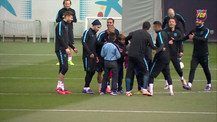 FC Barcelona training session: Last session before the 2nd leg against A...