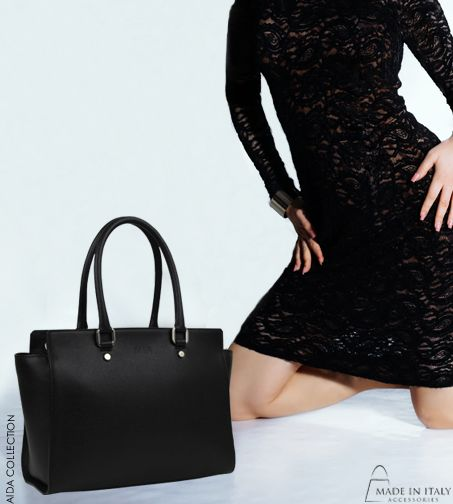 Aida Collection | MIA made in Italy | Exclusive Black Leather Bags for Women | Made in Italy Accessories  https://madeinitalyaccessories.com/mia-handbags