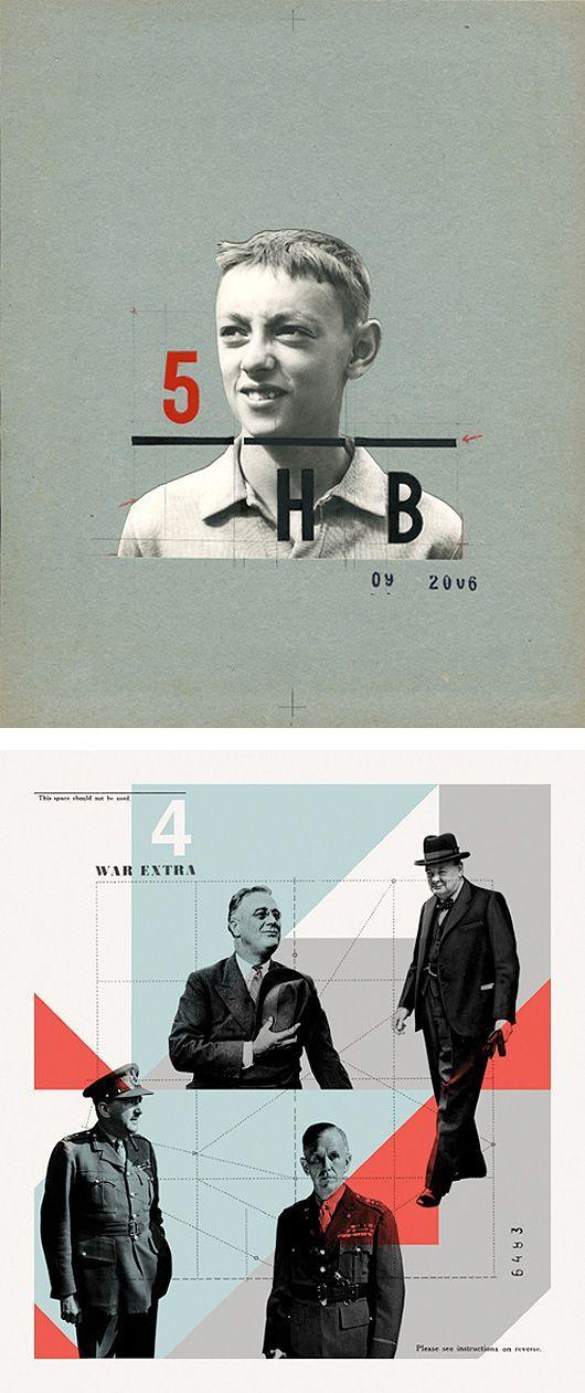Collage design by Portuguese illustrator and designer Cristiana Couceiro.