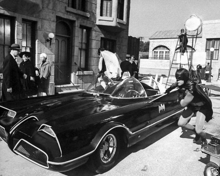 Behind the scenes shot on the set of ABC-TV's Batman (1966)