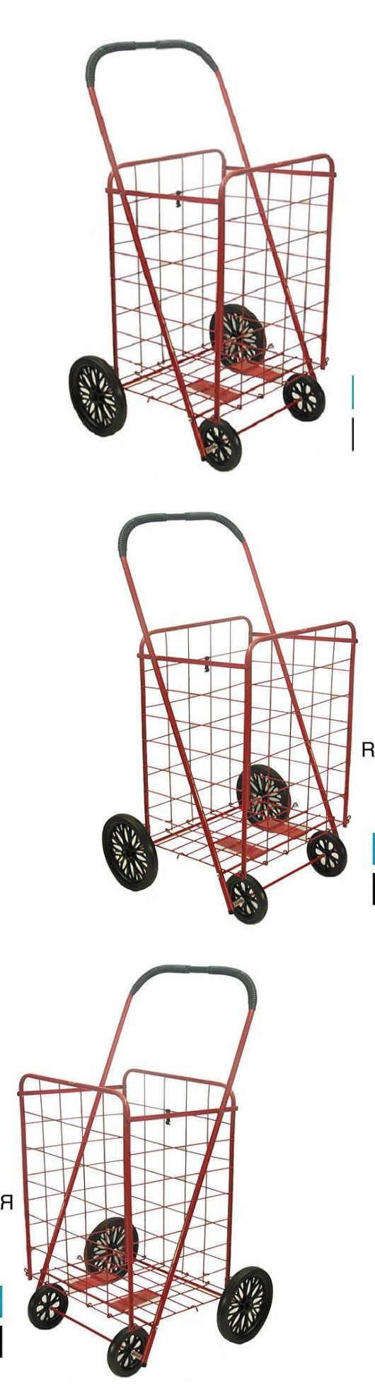Laundry Bags 43516: Shopping Cart With Wheels Grocery Laundry Red Folding Foldable Rolling Durable -> BUY IT NOW ONLY: $44.99 on eBay!
