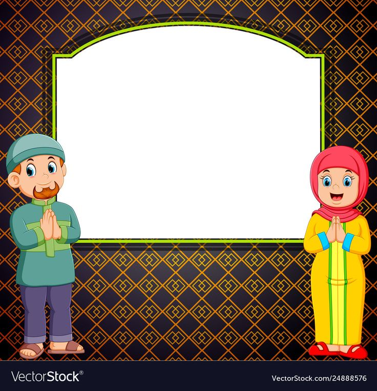 Two adult is standing in front blank vector image on