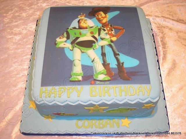 Toystory Buzz and Woody Cake. Buzz and Woody image printed celebration cake