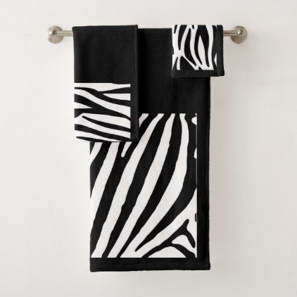 Zebra Print Bathroom Towel Set - bathroom idea ideas home & living diy cyo bath