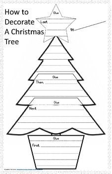 Decorate a Christmas Tree Sequence Writing Project - First, Next ...