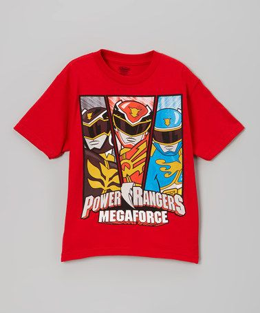 Look what I found on #zulily! Red 'Power Rangers Megaforce' Tee – Boys #zulilyfinds