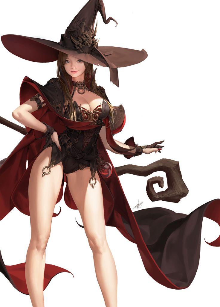 Witch2, Daeho Cha on ArtStation at https://www.artstation.com/artwork/DOzge