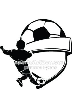 Sports Art Boy Soccer Shield