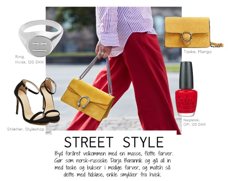 Street Style by Johanneappel #hvisk #hviskstylist #hviskjewellery #fashion #outfit #mango #bag #streetstyle #stilettos #darjabar #darjabarannik #nailpolish #emoji #color #colorsplash #redpants #pants #yellow #red #johanneappel #jewellery #jewelry