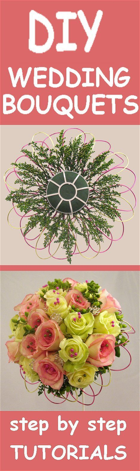 How To Make Wedding Bouquets And Corsages : Images about diy wedding flower tutorials on