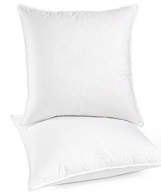 "Lauren Ralph Lauren 233 Thread Count Classic 26\"" Square European Pillow"