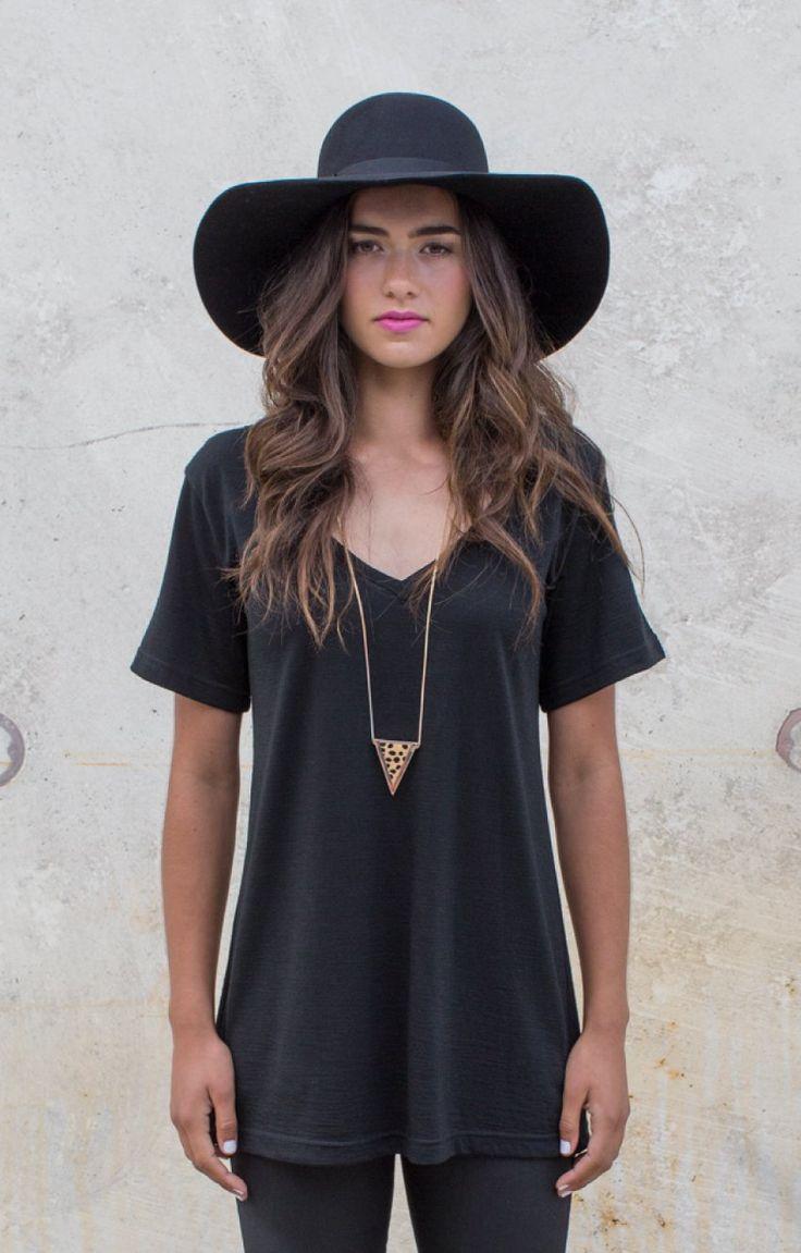 Madison Floppy Felt Hat Black