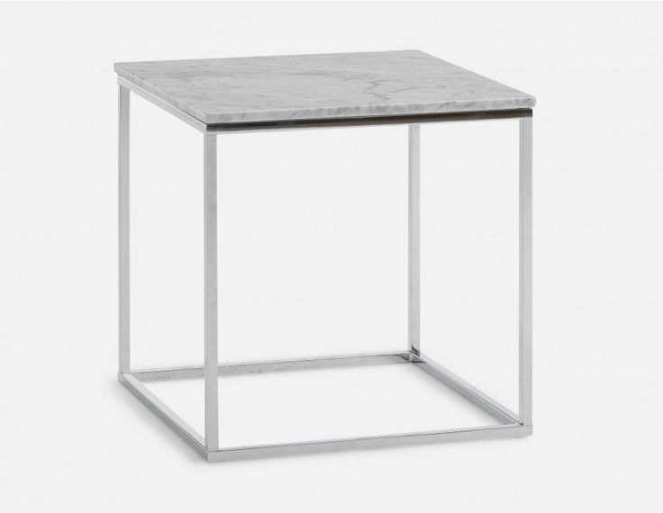 LEONARDO - marble end table - White