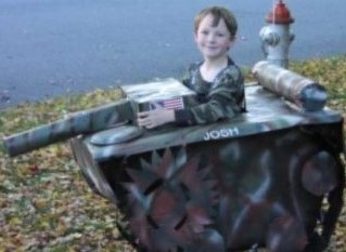 Tank Halloween wheelchair costume