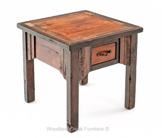 touch of the west barn wood end table