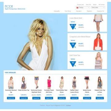 Fashion 4 Colors | J'aime bien encore une fois la présence d'un couleur qui fait se déplacer le thème et qui ferait très beau avec les couleurs de berceau | Demo: http://www.zukkan.com/demo/fashion/ | Prix: 25$