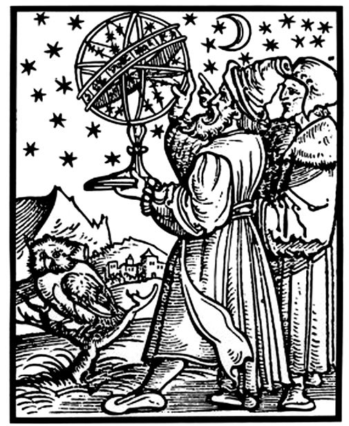Heinrich Vogtherr, Two Astronomers Observing the Firmament, ca. 1545