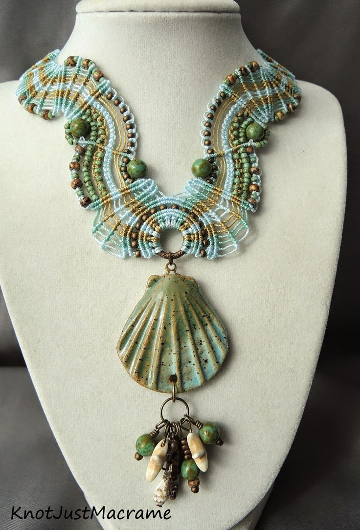 Micro macrame necklace by Sherri Stokey of Knot Just Macrame.