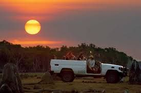 A Safari sunset tour at the luxurious Bamurru Plains. Northern Territory Australia.  www.thekimberleycollection.com.au