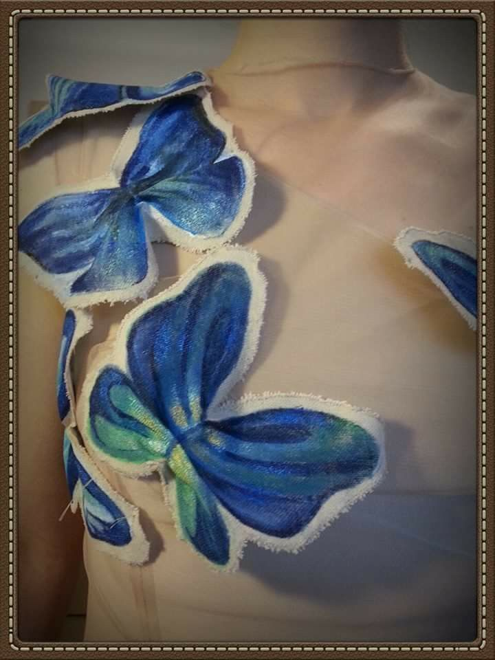 Blue Mood - Painted butterflyes Unique and Amazing ,Anca Delia Băbuța , Erika Sabău