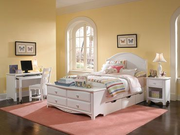 Lea Furniture - Haley Full Panel Bed with Dresser Footboard