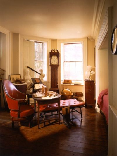 Thomas Jefferson's study... The other 13 rooms of famous men in this blog post are magnificent.