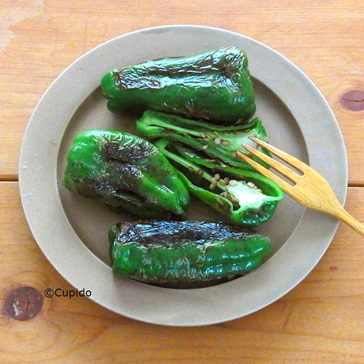 Grilled Green pepper with Soy Sauce