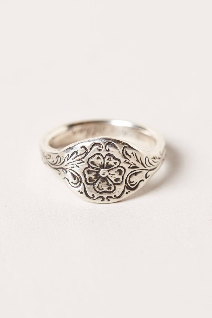 Engraved Posey Ring - anthropologie.com