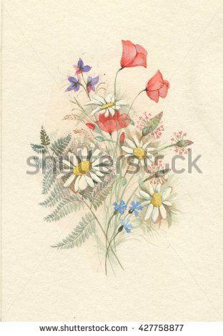 beautiful watercolor bouquet
