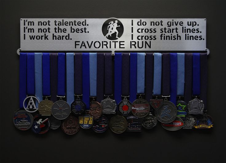 Favorite Run Do Not Give Up Medal Hanger
