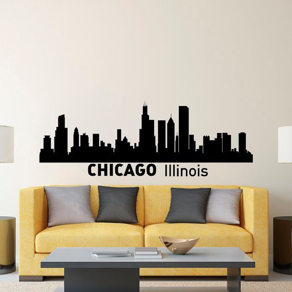Best Cityscape World Map Wall Decor Images On Pinterest - How to make vinyl wall decals with silhouette