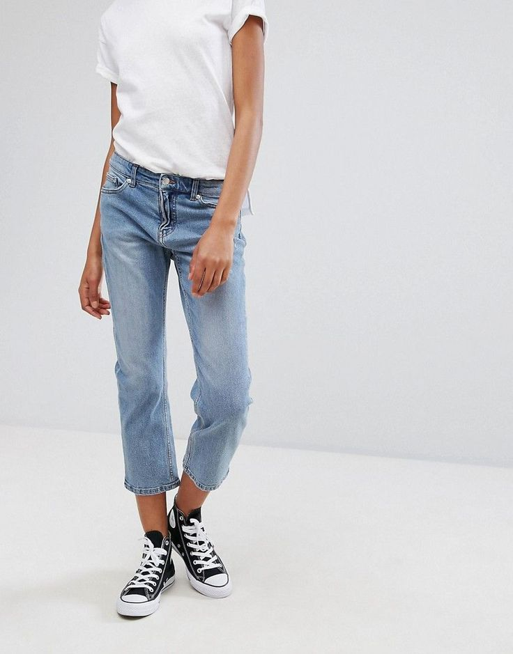 Get this Cheap Monday's boyfriend jeans now! Click for more details. Worldwide shipping. Cheap Monday Mid-Rise Girlfriend Jean - Blue: Jeans by Cheap Monday, Stretch denim, Concealed fly, Functional pockets, Straight leg, Cropped length, Regular fit - true to size, Machine wash, 99% Cotton, 1% Lycra Elastane, Our model wears a UK 8/W26 and is 175cm/5'9 tall. Stockholm based label Cheap Monday are renowned for their perfect fit skinny jeans and characteristic skull motif. Offering attainable…