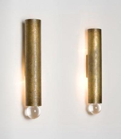 Brass Sconce with Crystal Detail Herve Van der Straeten