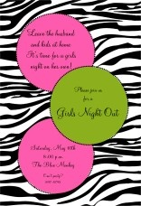 Cute invitation for girls.  Printed in house