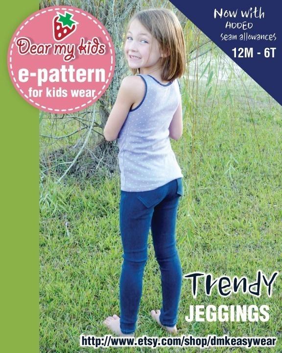 Trendy Jeggings 12month upto age 6 PDF patterns door dmkeasywear