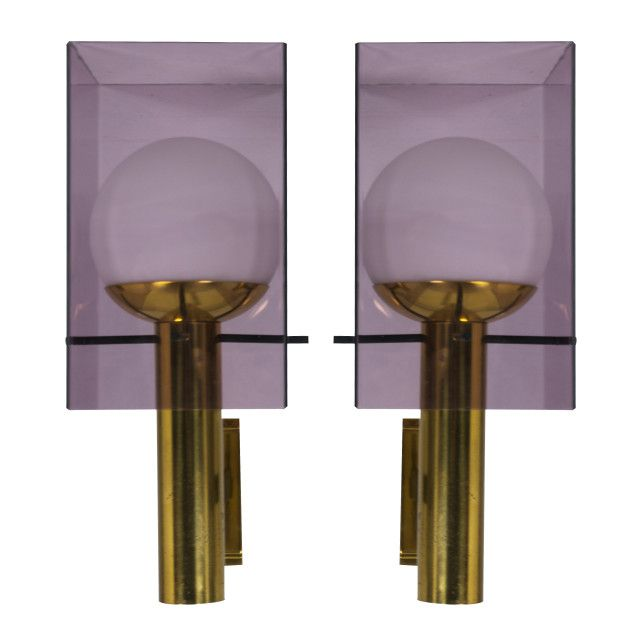 Beautiful pair of large Stilux sconces | Cabina Design Gallery
