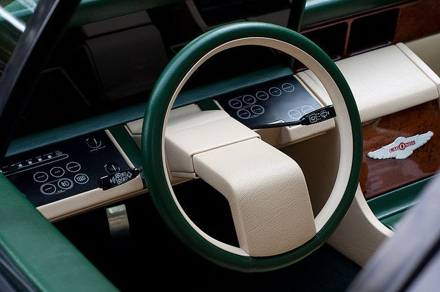 Aston Martin Lagonda - Really creative take on the steering wheel !
