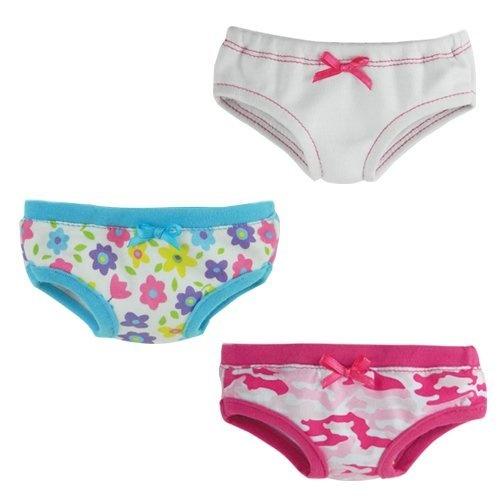 18 Doll Underwear, Set of 3, Will Fit 18 Inch American Girl Dolls  Price : $11.95 http://www.18inchdollstore.com/Doll-Underwear-Will-American-Dolls/dp/B0076YJACM