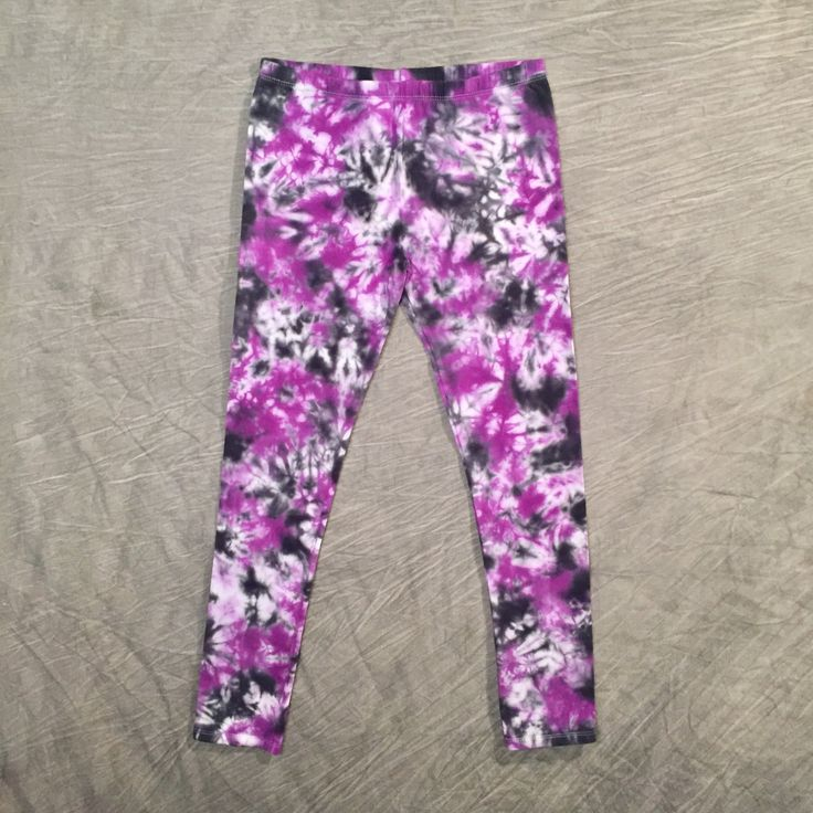 Tie Dye Leggings / Girls 14 / Teen Leggings / Splash Dye Leggings / Tiedye pants / Cotton-Spandex / Cute Pants / Wearable Art / StretchPants by LiquidKittenDesigns on Etsy