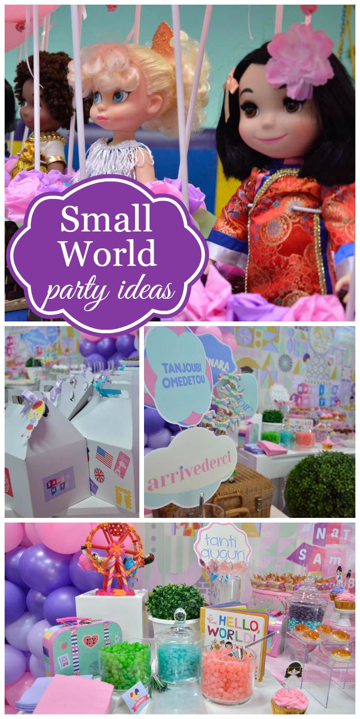 42 best Its a Small World Birthday Party images on Pinterest
