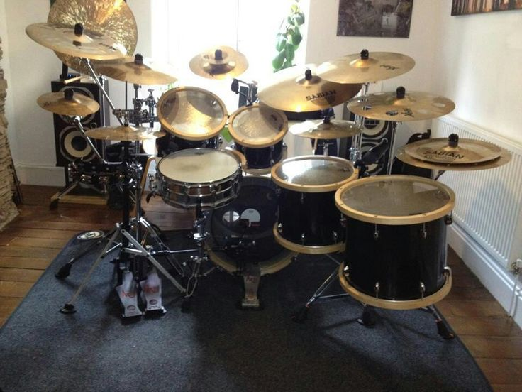 Beautiful Drums - don't like the reverse toms in this one though.  I think it's the wooden hoops which exaggerate the look.  I Loooove the wood hoops though.  They look fantastic.