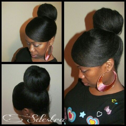 19 best protective hair styles relaxed hair images on pinterest updo relaxed pmusecretfo Gallery