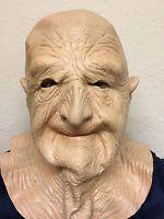 Old Man Mask Bald Head Wrinkly Grandad Bad Dirty Grandpa Latex Fancy Stag Party