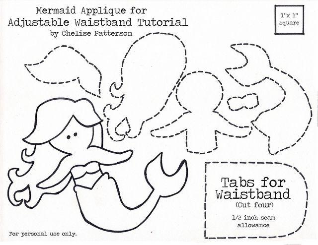 Mermaid applique la sirenitamermaid pinterest brooke d39orsay patterns and stencils for Mermaid templates printable