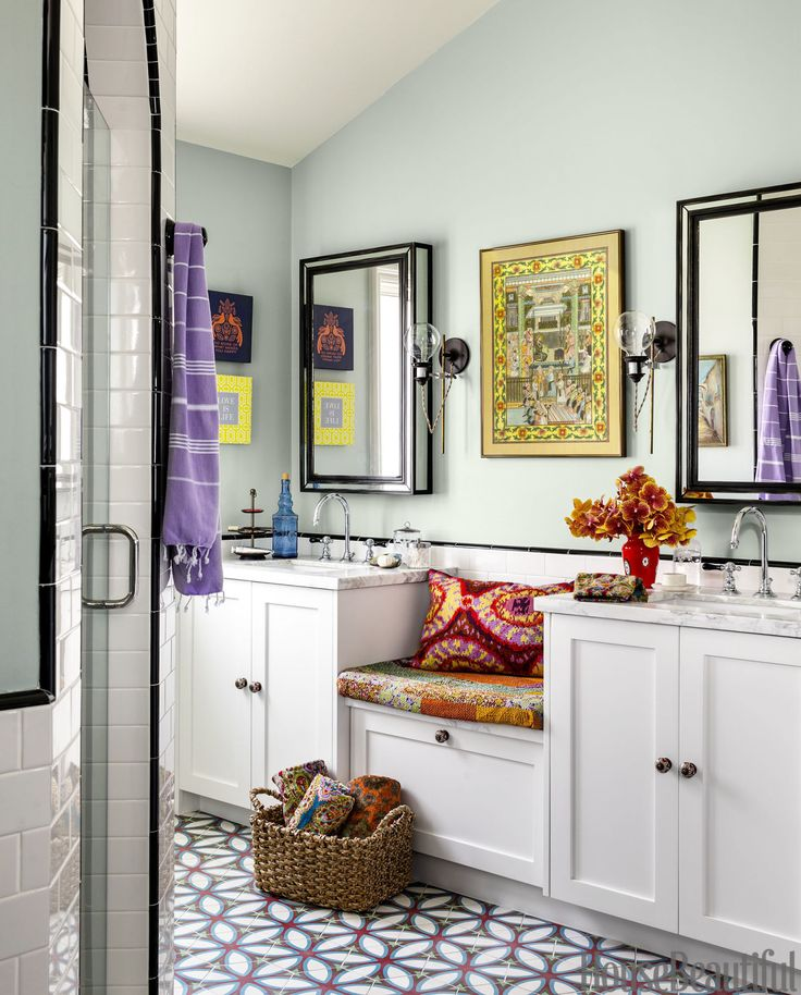 A California Bathroom That Breaks All The Rules. Modern Bohemian DecorShared  ...