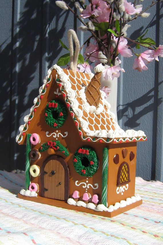 Split Level Gingerbread Fairy House By Gingerbreadfaire On