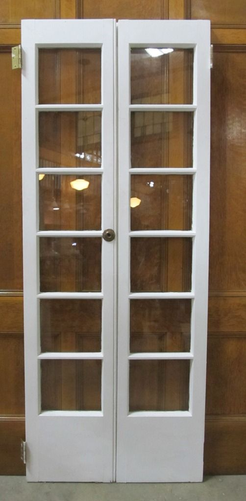 Narrow french door would make a nice replacement for the window in the bedroom.