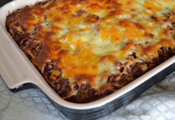 Mexicansk tortilla lasagne