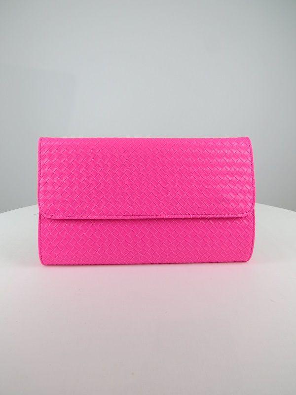 57d5d56452 Bright coloured woven clutch bag
